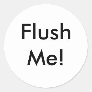 FlushMe! Classic Round Sticker