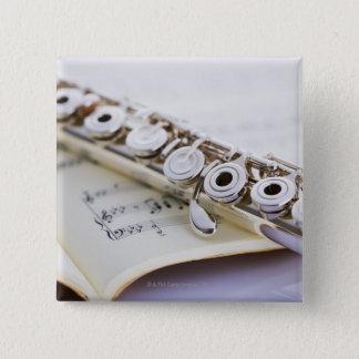 Flute 2 15 cm square badge