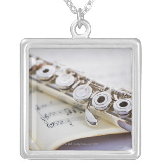 Flute 2 silver plated necklace