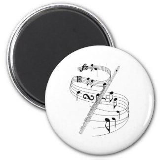 Flute 6 Cm Round Magnet