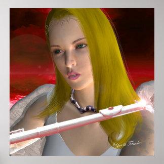 Flute Angel 1 Poster