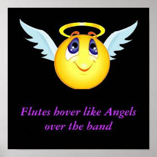 Flute Angel Poster