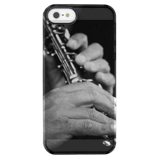 Flute being played in black and white by gypsy clear iPhone SE/5/5s case