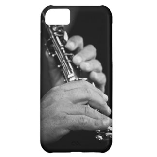 Flute being played in black and white by gypsy iPhone 5C case