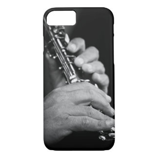 Flute being played in black and white by gypsy iPhone 7 case
