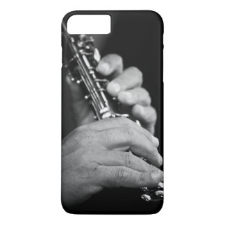 Flute being played in black and white by gypsy iPhone 7 plus case