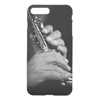 Flute being played in black and white by gypsy iPhone 8 plus/7 plus case