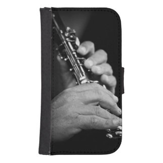 Flute being played in black and white by gypsy samsung s4 wallet case
