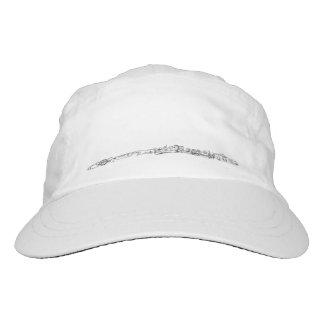 Flute Black Line Drawing Hat