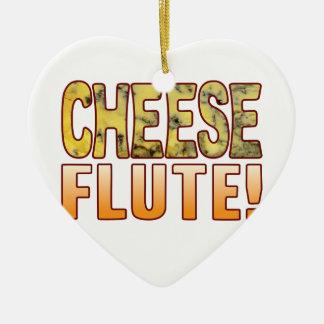 Flute Blue Cheese Ceramic Heart Decoration