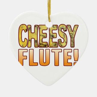 Flute Blue Cheesy Ceramic Heart Decoration