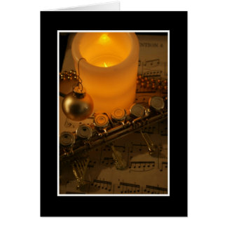 Flute Candle Notation Greeting Cards