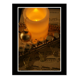Flute Candle Notation Post Cards