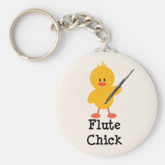 Flute Chick Keychain
