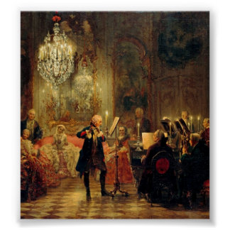 Flute Concert with Frederick the Great Poster