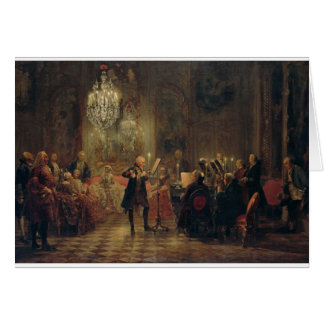 Flute Concert with Frederick the Great Sanssouci Card