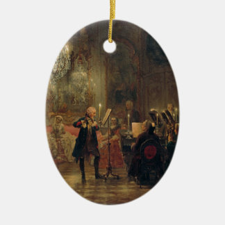 Flute Concert with Frederick the Great Sanssouci Ceramic Oval Decoration