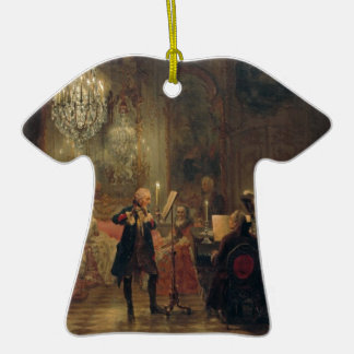 Flute Concert with Frederick the Great Sanssouci Double-Sided T-Shirt Ceramic Christmas Ornament