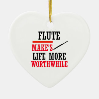 flute design christmas tree ornaments