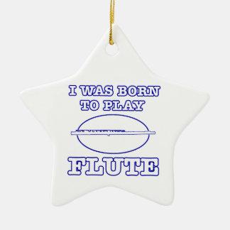 flute designs ceramic star decoration