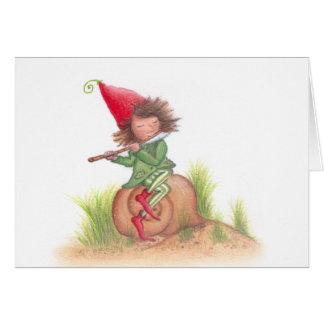 Flute Elf Postcard