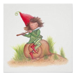 Flute Elf Poster