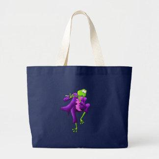 Flute Frog Large Tote Bag