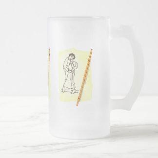 Flute Frosted Glass Mug