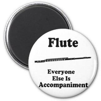 Flute Gift 6 Cm Round Magnet