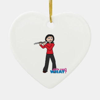 Flute-Gifts 1 Ceramic Heart Decoration
