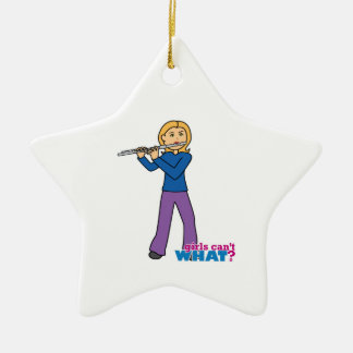 Flute-Gifts 2 Double-Sided Star Ceramic Christmas Ornament