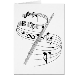 Flute Greeting Card