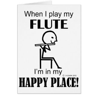 Flute Happy Place Card