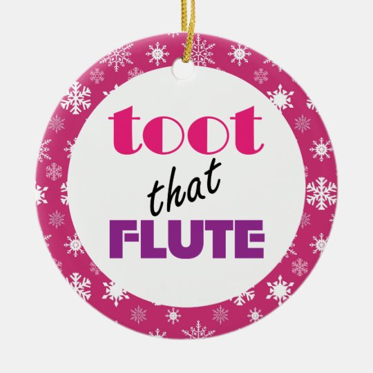 Flute Humour Music Christmas Ornament Gift