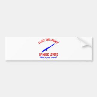 Flute instrument design bumper sticker