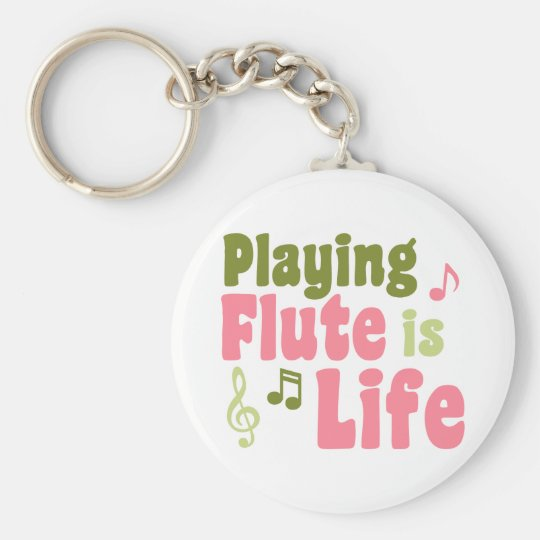 Flute is Life Basic Round Button Key Ring