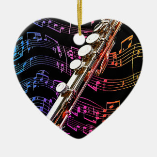 Flute is my Passion_ Ceramic Heart Decoration