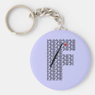 Flute Letter F Key Ring