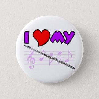 Flute Love 6 Cm Round Badge