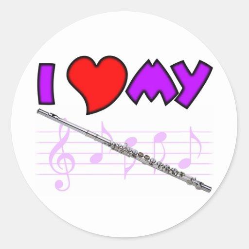 Flute Love Sticker