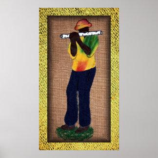 'Flute Man' Poster