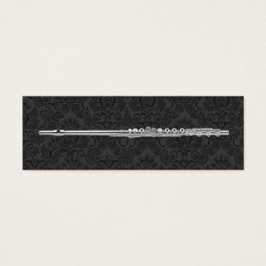 Flute Marks the Spot Mini Business Card