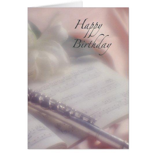 Flute Music Birthday Card