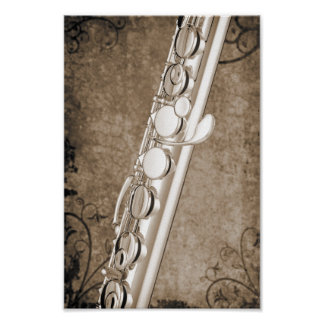 Flute Music Instrument Poster Photograph