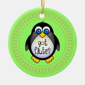 Flute Music Penguin Ornament Gift