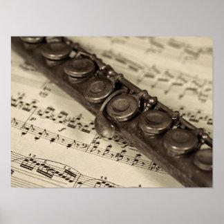Flute Music Poster