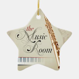 Flute Music Room Ceramic Star Decoration