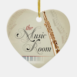 Flute Music Room Christmas Tree Ornament