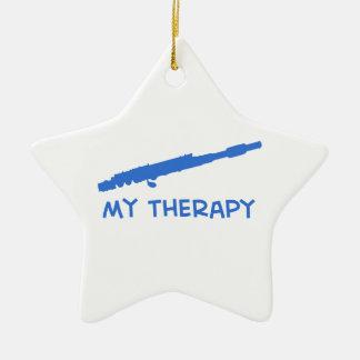 Flute my therapy designs ornament