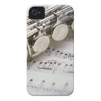 Flute on Sheet Music iPhone 4 Cover